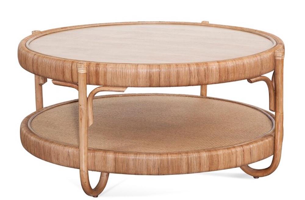 Beach Beautiful Willow Creek Coffee Table with Storage #CoffeeTable #Coastal #RattanCoffeeTables #BeachHome #CoastalDecor #CoastalFurniture #Seaside