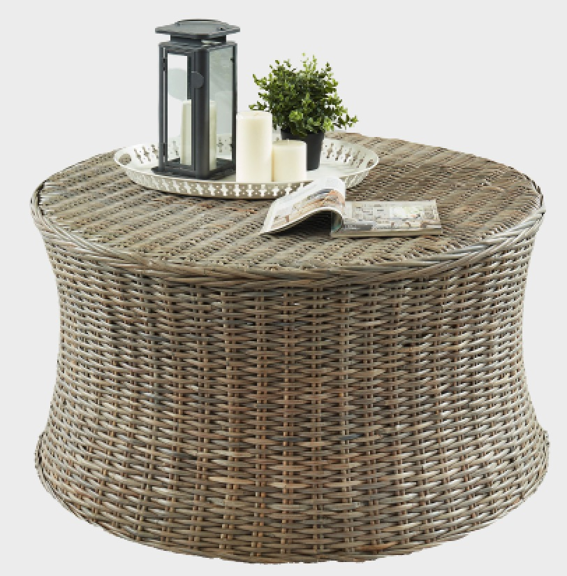Rattan Coffee Tables Yali Brown Rattan Round Coffee Table #CoffeeTable #Coastal #RattanCoffeeTables #BeachHome #CoastalDecor #CoastalFurniture #Seaside