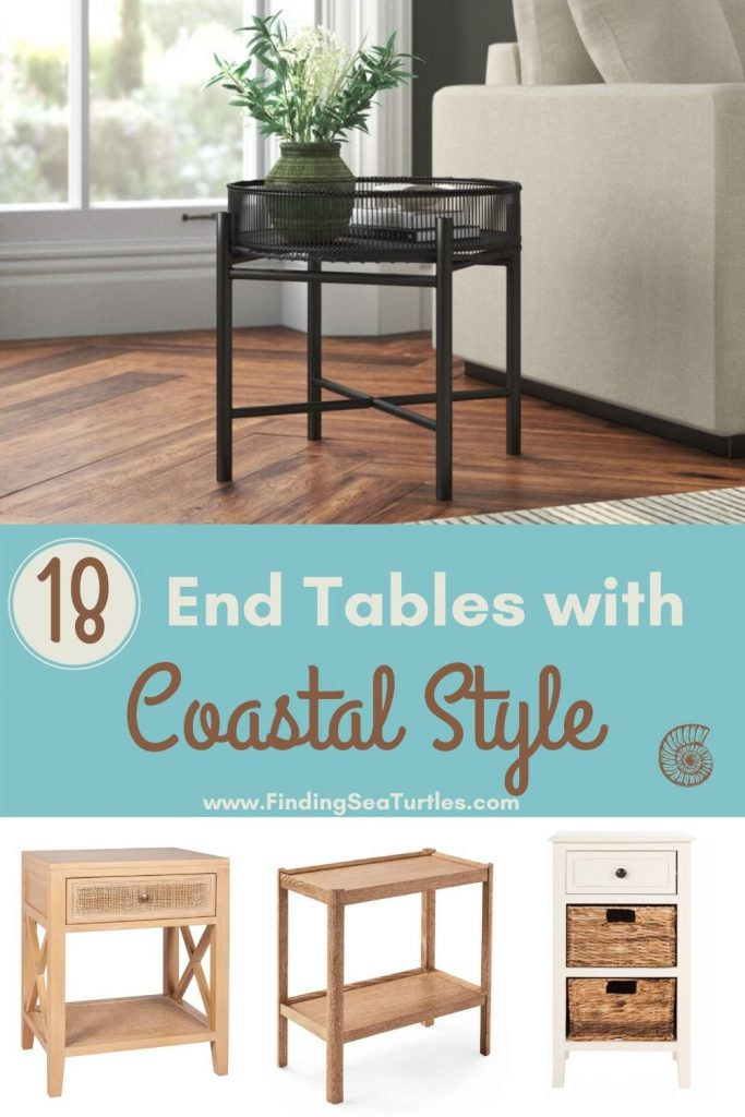 End Tables with Coastal Style 18 End Tables with Coastal Style #EndTables #SideTables #CoastalEndTables #BeachHome #CoastalDecor #SeasideDecor #IslandDecor #TropicalIslandDecor #BeachHouse