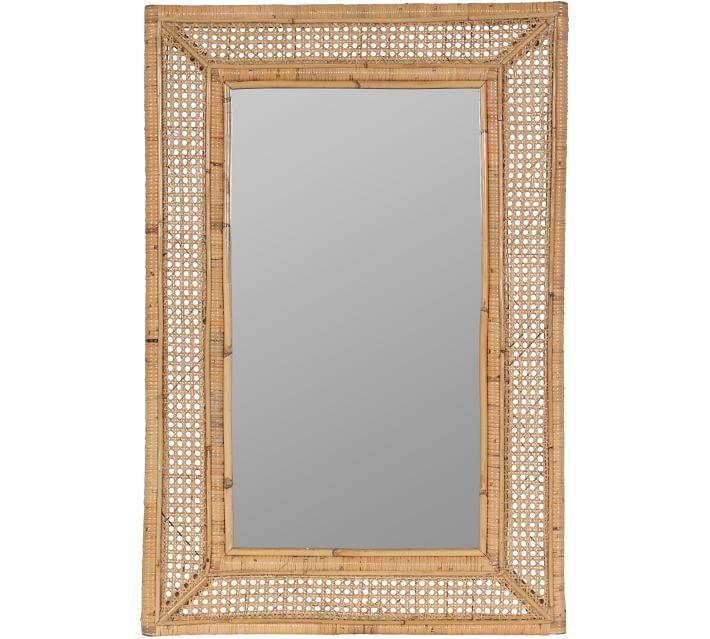 Seaside Style Ash Rattan Mirror #Mirrors #Coastal #RattanMirrors #BeachHome #CoastalDecor #CoastalFurniture #Seaside #Tropical #Island