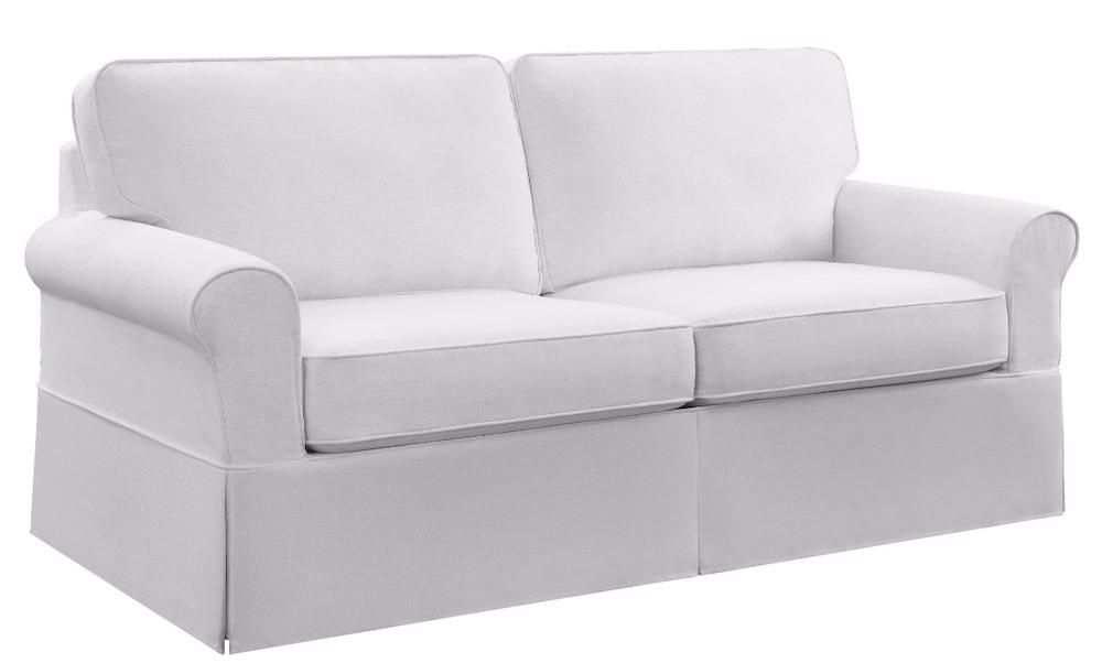 Coastal White Sofas Ashton Slipcover Sofa #Sofas #CoastalSofas #BeachHome #CoastalDecor #SeasideDecor #IslandDecor #TropicalIslandDecor #BeachHomeSofas