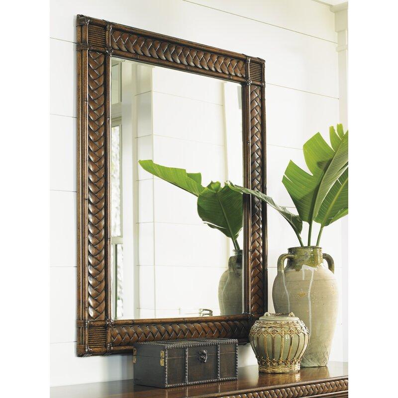 Rattan Mirrors for the Coastal Home Bali Hai Coastal Beveled Mirror #Mirrors #Coastal #RattanMirrors #BeachHome #CoastalDecor #CoastalFurniture #Seaside #Tropical #Island