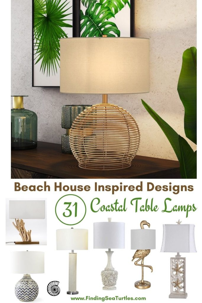Beach House Inspired Designs 31 Coastal Table Lamps #Lamps #TableLamps #BeachHome #CoastalDecor #SeasideDecor #IslandDecor #TropicalIslandDecor #BeachHomeDecor #LivingRoom #Bedroom