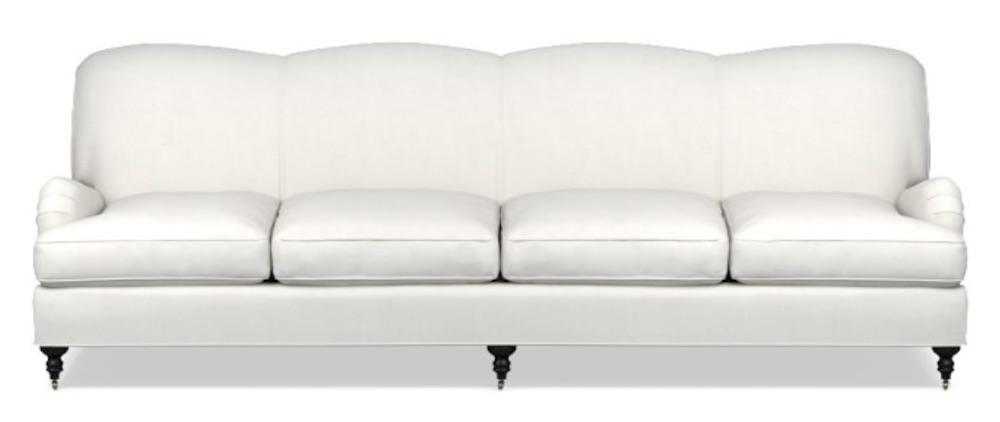 Coastal White Sofas Bedford Sofa #Sofas #CoastalSofas #BeachHome #CoastalDecor #SeasideDecor #IslandDecor #TropicalIslandDecor #BeachHomeSofas
