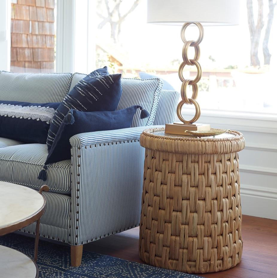 Drum Tables for the Coastal Home Cape Side Table #DrumTables #SideTables #CoastalDrumTables #BeachHome #CoastalDecor #SeasideDecor #IslandDecor #TropicalIslandDecor #BeachHouse #LakeHouse