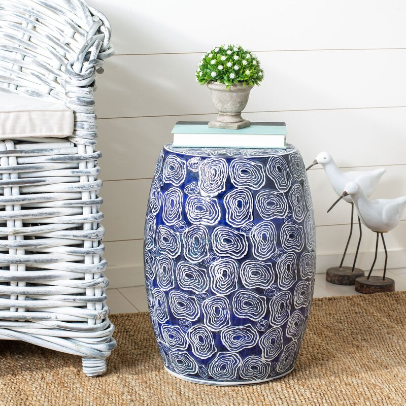Coastal Style Ceramic Tables Chattanooga Ceramic Garden Stool #CeramicTables #AccentTables #GardenStools #BeachHome #CoastalDecor #SeasideDecor #IslandDecor #TropicalIslandDecor #BeachHouse