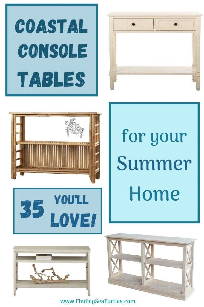 Coastal Console Tables for the Summer Home 35 Love #Coastal #CoastalDecor #Entryway #Foyer #ConsoleTables #CoastalEntryway #CoastalFoyer #BeachHouse #BeachHome #SummerHouse #LakeHouse #ConsoleTable #SeasideDecor #IslandDecor #TropicalIslandDecor