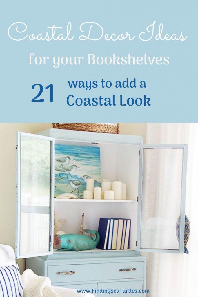 Coastal Decor Ideas for your Bookshelves #Coastal #CoastalDecor #Bookshelves #ShelfDecor #BeachHouse #BeachHome #LakeHouse #CoastalDecor #SeasideDecor #IslandDecor #TropicalIslandDecor