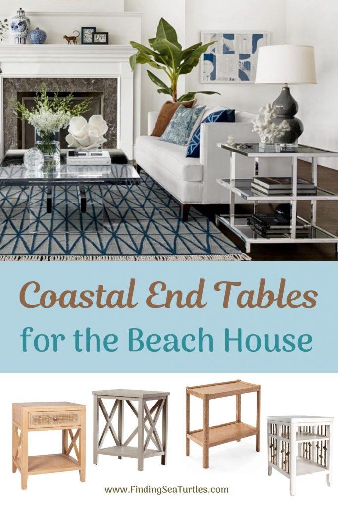 Coastal End Tables for the Beach House #EndTables #SideTables #CoastalEndTables #BeachHome #CoastalDecor #SeasideDecor #IslandDecor #TropicalIslandDecor #BeachHouse