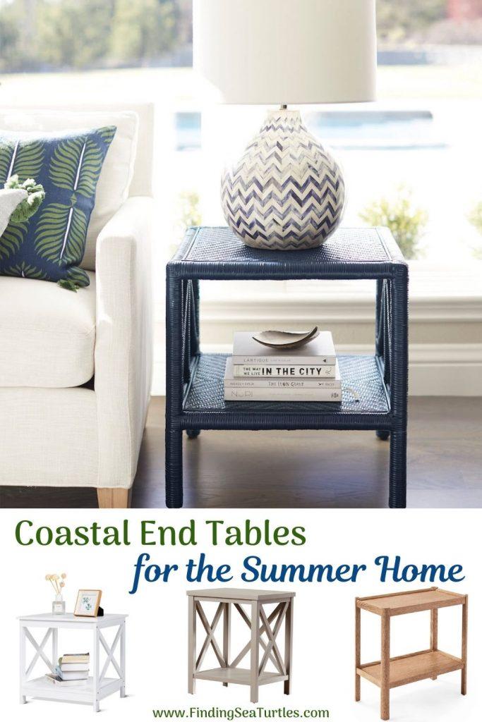 End Tables with Coastal Style Coastal End Tables for the Summer Home #EndTables #SideTables #CoastalEndTables #BeachHome #CoastalDecor #SeasideDecor #IslandDecor #TropicalIslandDecor #BeachHouse