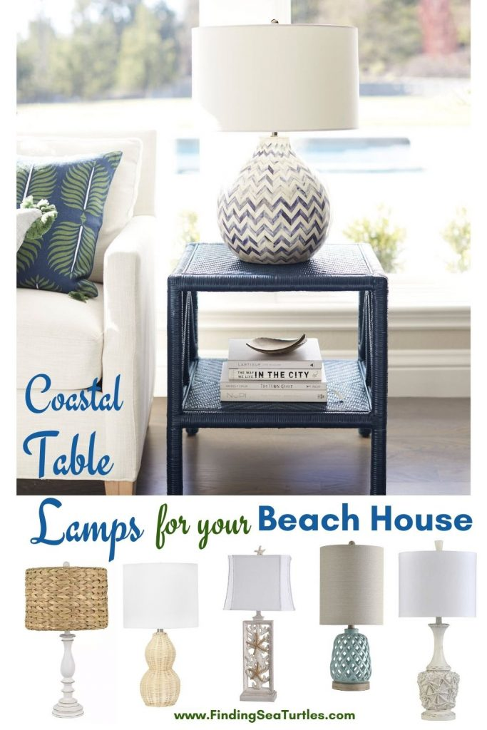 Coastal Table Lamps for your Beach House #Lamps #TableLamps #BeachHome #CoastalDecor #SeasideDecor #IslandDecor #TropicalIslandDecor #BeachHomeDecor #LivingRoom #Bedroom