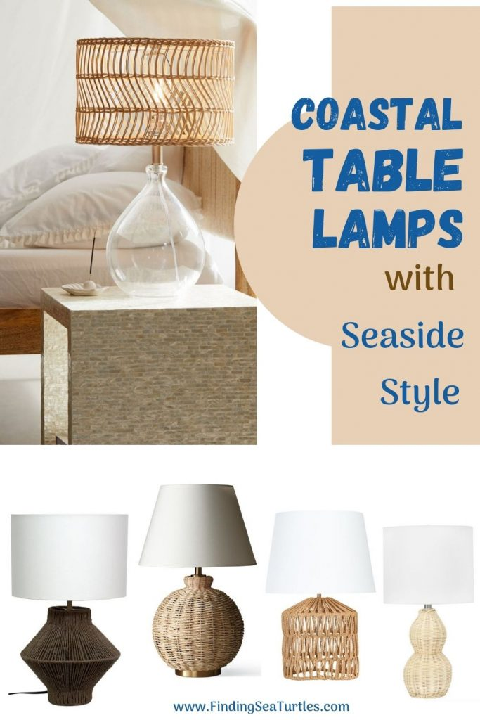 Coastal Table Lamps with Seaside Style #Lamps #TableLamps #BeachHome #CoastalDecor #SeasideDecor #IslandDecor #TropicalIslandDecor #BeachHomeDecor #LivingRoom #Bedroom