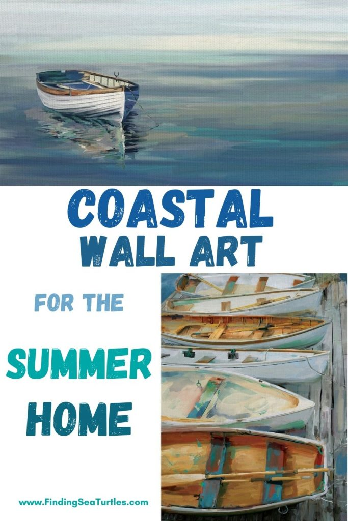 Coastal Wall Art for the Summer Home #Art #WallArt #WallArtIdeas #CoastalArt #CoastalWallArt #Entryway #HomeDecor #ConsoleTableDecor #LivingRoomArt #ArtFortheHome #HomeDecorTips #StylingTips