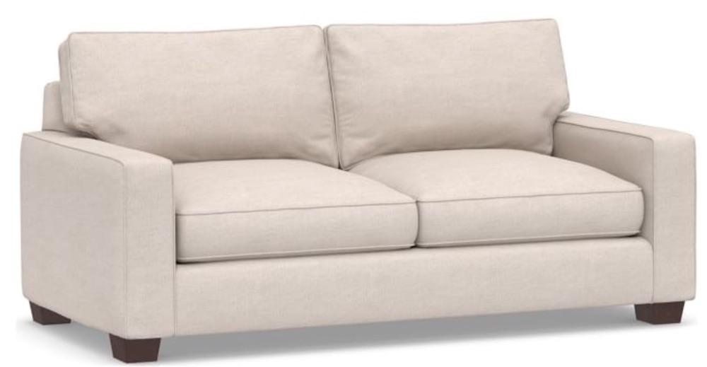Tropical Island Decor Comfort Square Arm Upholstered Sofa #Sofas #CoastalSofas #BeachHome #CoastalDecor #SeasideDecor #IslandDecor #TropicalIslandDecor #BeachHomeSofas