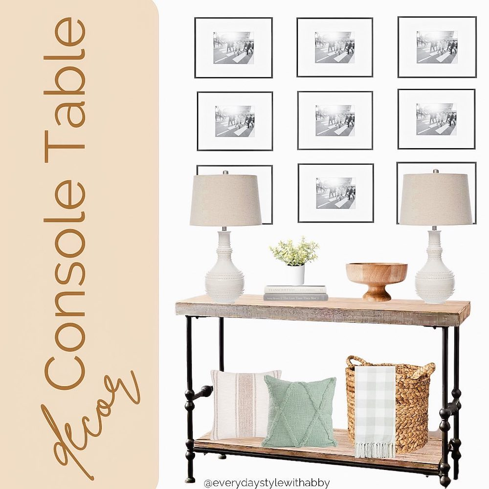 Style a Console Table Create a Gallery Wall