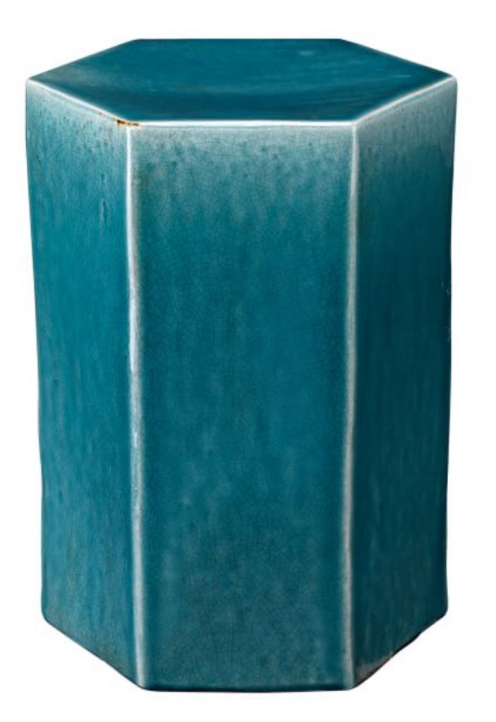 Beach House Decor Croft Ceramic Side Table Teal #CeramicTables #AccentTables #GardenStools #BeachHome #CoastalDecor #SeasideDecor #IslandDecor #TropicalIslandDecor #BeachHouse