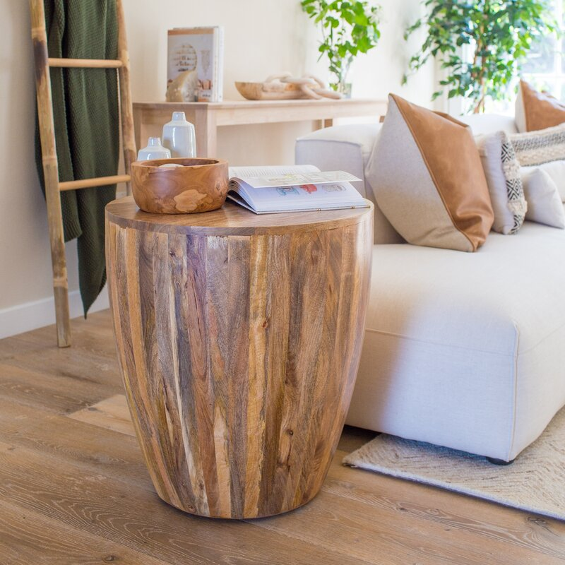 Seaside Style Downham End Table in Natural Finish #DrumTables #SideTables #CoastalDrumTables #BeachHome #CoastalDecor #SeasideDecor #IslandDecor #TropicalIslandDecor #BeachHouse #LakeHouse