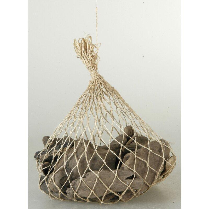 Nautical Decor Driftwood In An Abaca Bag #Driftwood #DriftwoodDecor #BeachHome #CoastalDecor #IslandDecor #SeasideDecor #TropicalIslandDecor #BeachHomeDecor