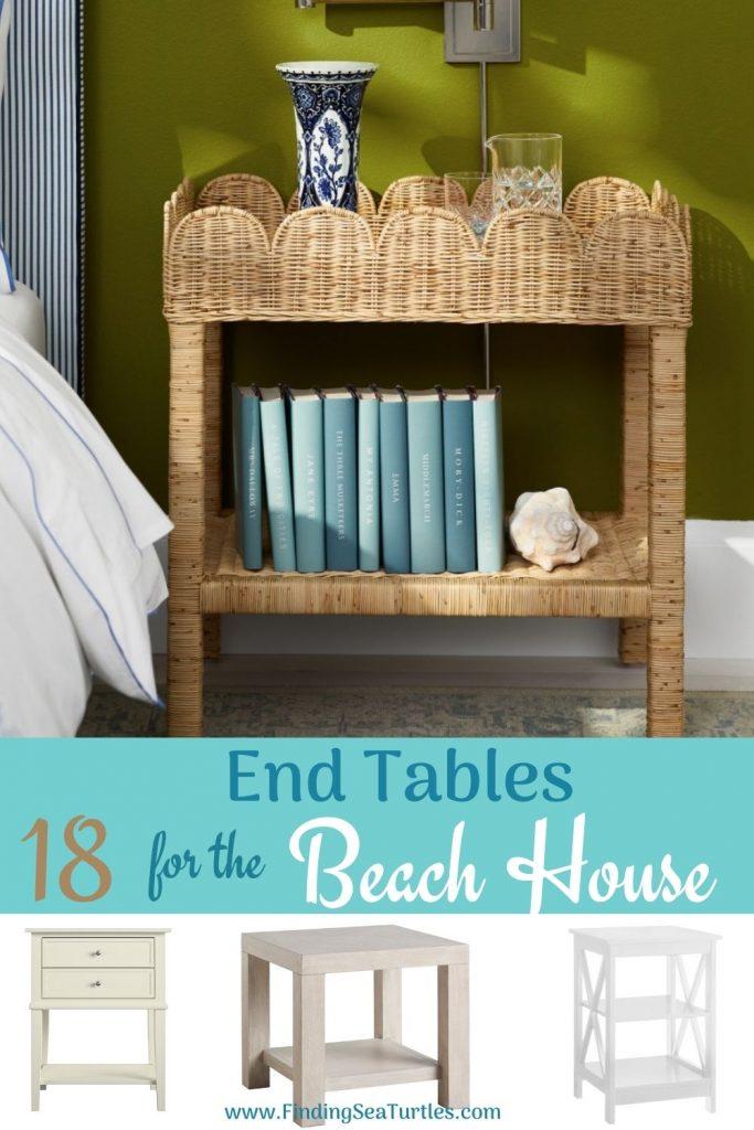 End Tables with Coastal Style End Tables 18 for the Beach House #EndTables #SideTables #CoastalEndTables #BeachHome #CoastalDecor #SeasideDecor #IslandDecor #TropicalIslandDecor #BeachHouse