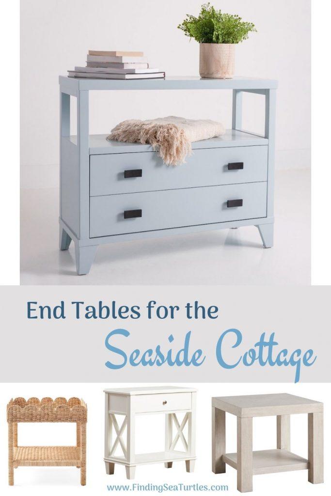 Coastal End Tables End Tables for the Seaside Cottage #EndTables #SideTables #CoastalEndTables #BeachHome #CoastalDecor #SeasideDecor #IslandDecor #TropicalIslandDecor #BeachHouse