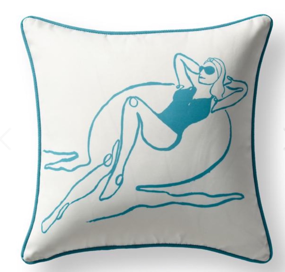 Living by the Beach Floating Fancy Pillow Cover #Pillows #ThrowPillows #BeachHome #CoastalDecor #SeasideDecor #IslandDecor #TropicalIslandDecor #BeachHomeDecor