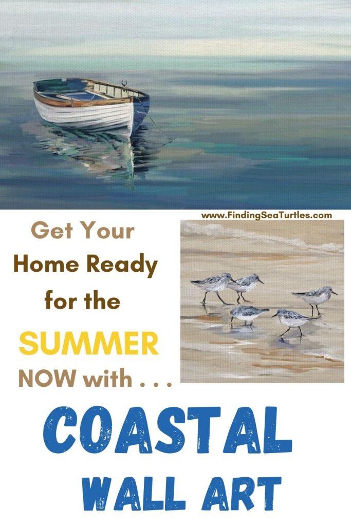 Get Your Home Ready for the Summer Now with Coastal Art #Art #WallArt #WallArtIdeas #CoastalArt #CoastalWallArt #Entryway #HomeDecor #ConsoleTableDecor #LivingRoomArt #ArtFortheHome #HomeDecorTips #StylingTips