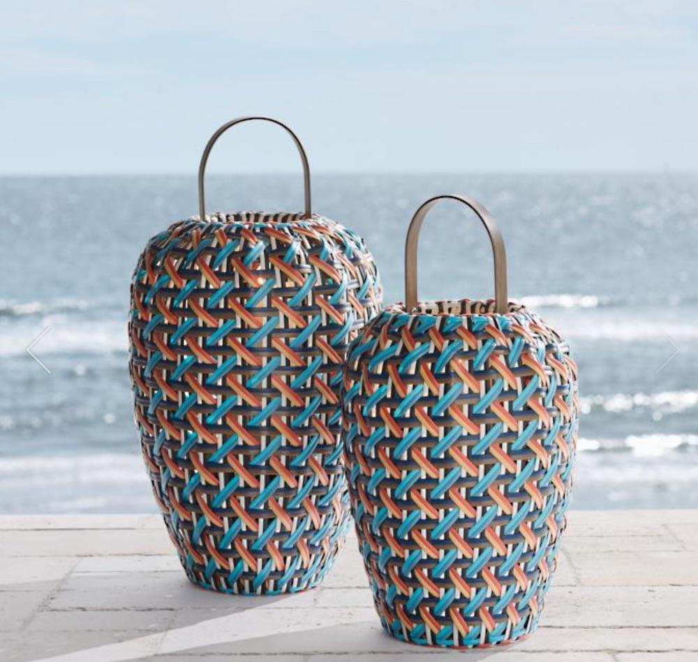 Coastal Decor Harper Lantern multi color #rattan #RattanLanterns #BeachHome #CoastalDecor #IslandDecor #SeasideDecor #TropicalIslandDecor #BeachHomeDecor