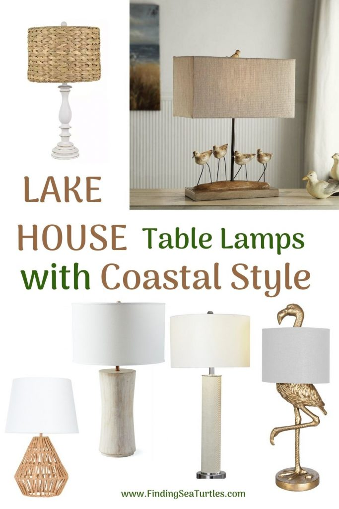 LAKE House Table Lamps with Coastal Style #Lamps #TableLamps #BeachHome #CoastalDecor #SeasideDecor #IslandDecor #TropicalIslandDecor #BeachHomeDecor #LivingRoom #Bedroom