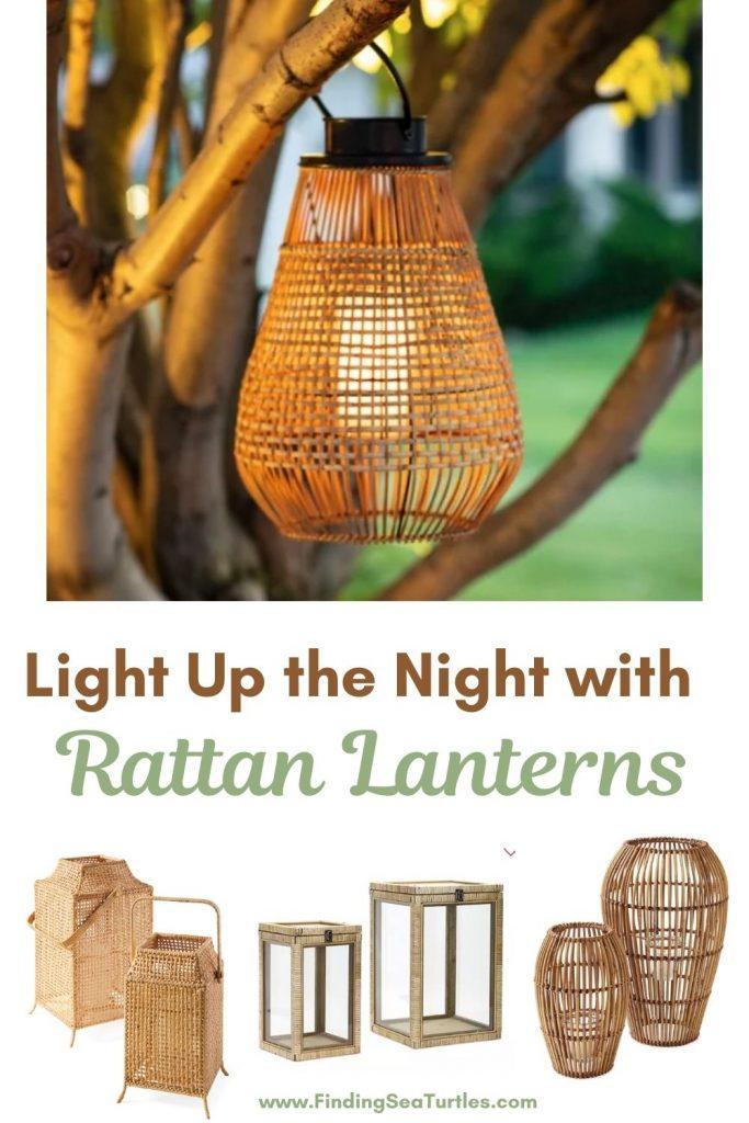 Rattan Lanterns Light Up the Night with Rattan Lanterns #rattan #RattanLanterns #BeachHome #CoastalDecor #IslandDecor #SeasideDecor #TropicalIslandDecor #BeachHomeDecor