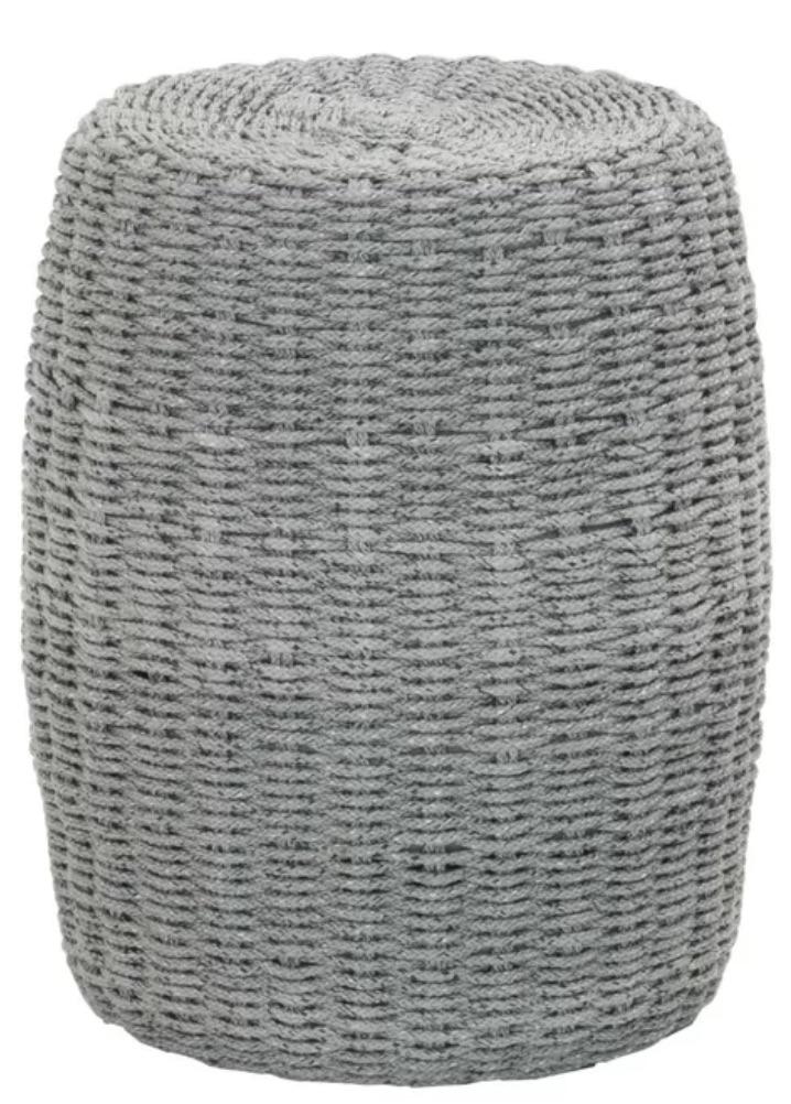 Drum Tables for the Coastal Home Marinez End Table in a Gray Finish #DrumTables #SideTables #CoastalDrumTables #BeachHome #CoastalDecor #SeasideDecor #IslandDecor #TropicalIslandDecor #BeachHouse #LakeHouse