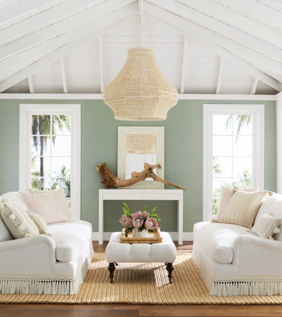 Coastal White Sofas Miramar Fringed Sofa #Sofas #CoastalSofas #BeachHome #CoastalDecor #SeasideDecor #IslandDecor #TropicalIslandDecor #BeachHomeSofas