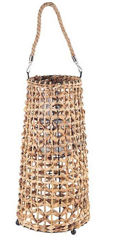 Coastal Lifestyle Natural Woven Lantern #rattan #RattanLanterns #BeachHome #CoastalDecor #IslandDecor #SeasideDecor #TropicalIslandDecor #BeachHomeDecor