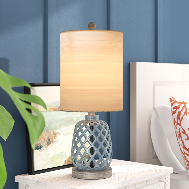 Beach House Blue Odum Table Lamp #Lamps #TableLamps #BeachHome #CoastalDecor #SeasideDecor #IslandDecor #TropicalIslandDecor #BeachHomeDecor #LivingRoom #Bedroom