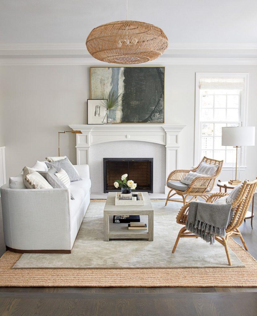 Coastal White Sofas Parkwood Sofa #Sofas #CoastalSofas #BeachHome #CoastalDecor #SeasideDecor #IslandDecor #TropicalIslandDecor #BeachHomeSofas