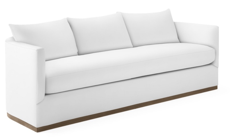 Coastal White Sofas Decor Parkwood Sofa #Sofas #CoastalSofas #BeachHome #CoastalDecor #SeasideDecor #IslandDecor #TropicalIslandDecor #BeachHomeSofas