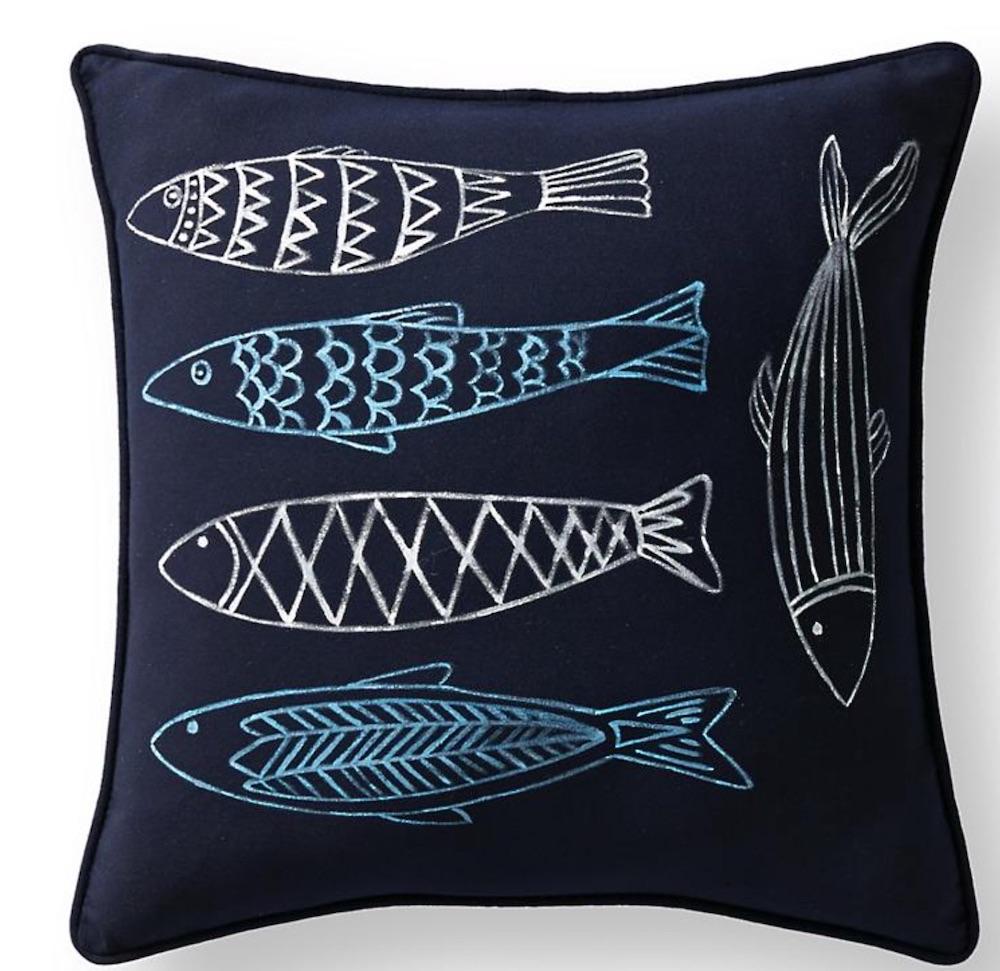 Coastal Beach House Pillows Pescado Pillow #Pillows #ThrowPillows #BeachHome #CoastalDecor #SeasideDecor #IslandDecor #TropicalIslandDecor #BeachHomeDecor