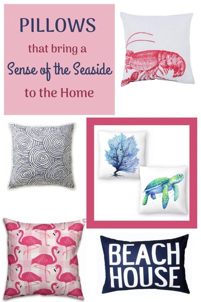 Coastal Beach House Pillows Pillows that bring a Sense of the Seaside to the Home #Pillows #ThrowPillows #BeachHome #CoastalDecor #SeasideDecor #IslandDecor #TropicalIslandDecor #BeachHomeDecor