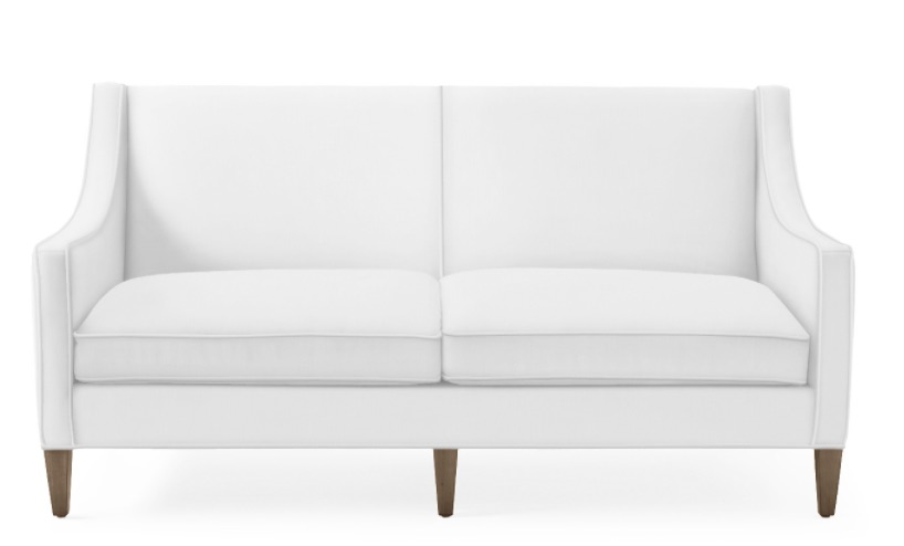 Coastal White Sofas Piper Sofa #Sofas #CoastalSofas #BeachHome #CoastalDecor #SeasideDecor #IslandDecor #TropicalIslandDecor #BeachHomeSofas