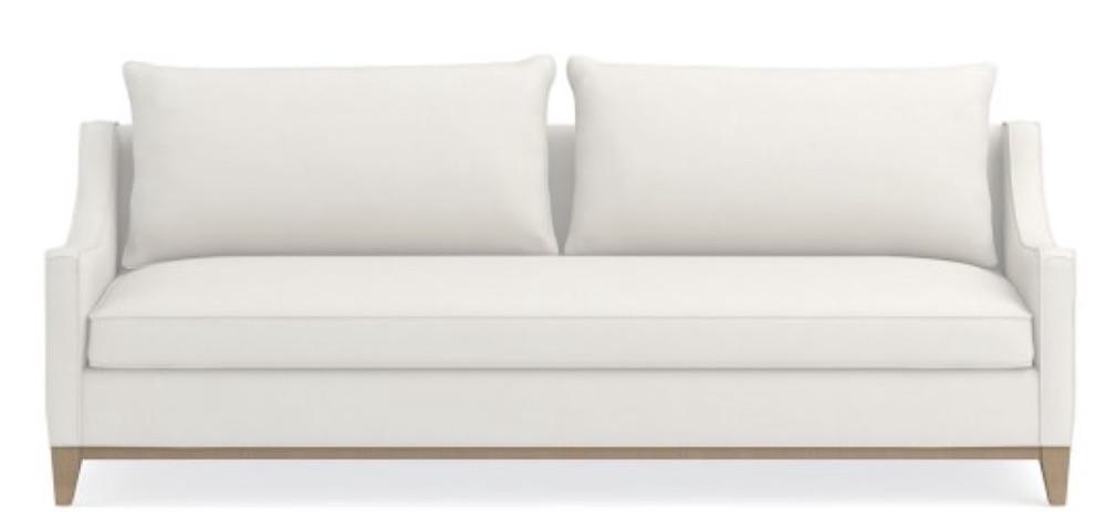 Coastal White Sofas Presidio Sofa #Sofas #CoastalSofas #BeachHome #CoastalDecor #SeasideDecor #IslandDecor #TropicalIslandDecor #BeachHomeSofas