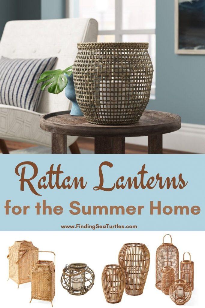 Rattan Lanterns for the Summer Home #rattan #RattanLanterns #BeachHome #CoastalDecor #IslandDecor #SeasideDecor #TropicalIslandDecor #BeachHomeDecor