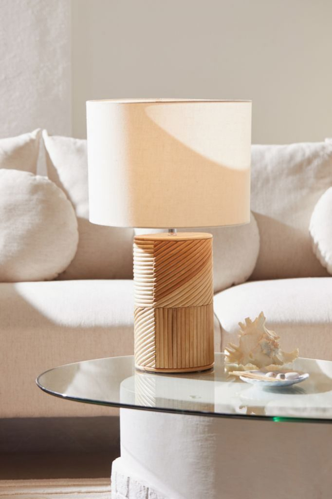 Summer House Decor Ria Rattan Table Lamp #Lamps #TableLamps #BeachHome #CoastalDecor #SeasideDecor #IslandDecor #TropicalIslandDecor #BeachHomeDecor #LivingRoom #Bedroom