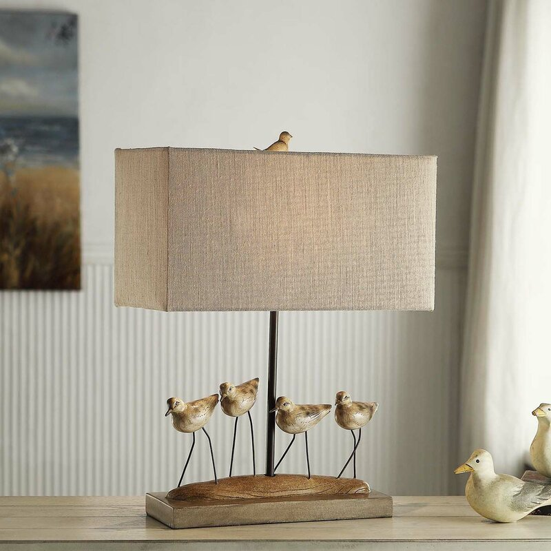 Seaside Style Sherbrooke Shore Birds Table Lamp #Lamps #TableLamps #BeachHome #CoastalDecor #SeasideDecor #IslandDecor #TropicalIslandDecor #BeachHomeDecor #LivingRoom #Bedroom