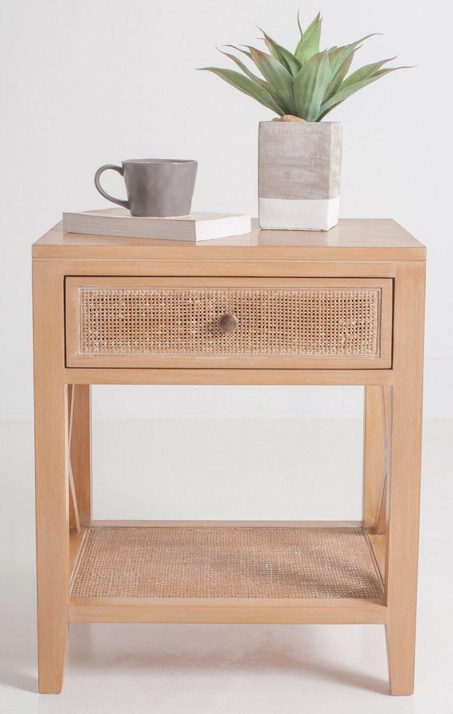 Seaside Style Single Drawer End Table with Storage #EndTables #SideTables #CoastalEndTables #BeachHome #CoastalDecor #SeasideDecor #IslandDecor #TropicalIslandDecor #BeachHouse