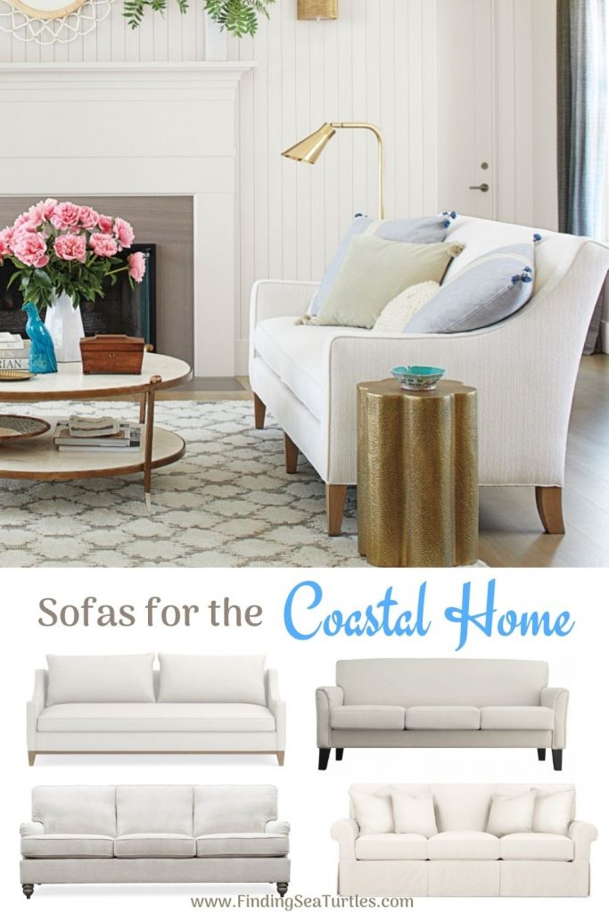 Coastal White Sofas Sofas for the Coastal Home #Sofas #CoastalSofas #BeachHome #CoastalDecor #SeasideDecor #IslandDecor #TropicalIslandDecor #BeachHomeSofas