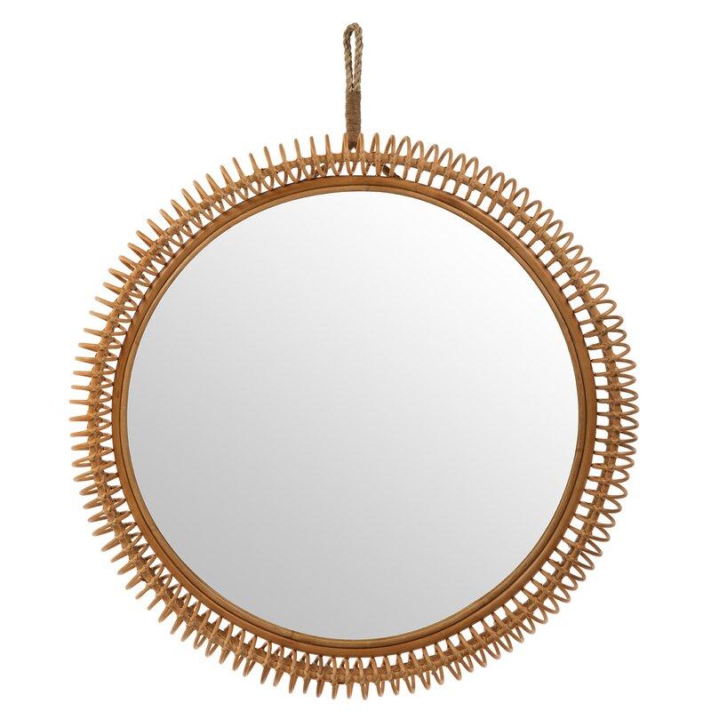Seaside Style Stacia Rattan Coiled Coastal Mirror #Mirrors #Coastal #RattanMirrors #BeachHome #CoastalDecor #CoastalFurniture #Seaside #Tropical #Island