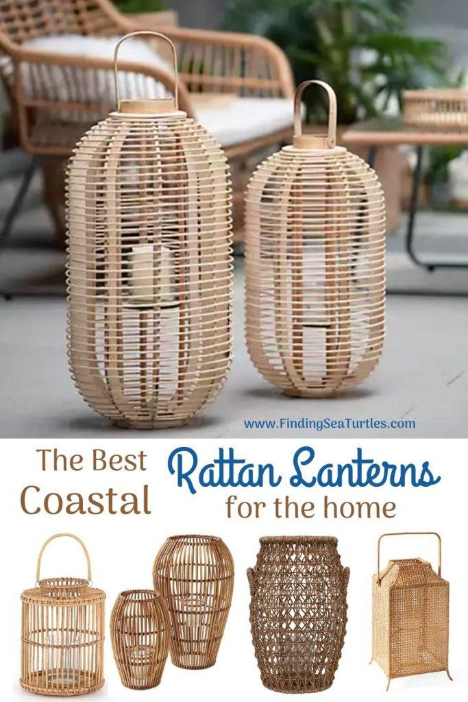 Rattan Lanterns for your Beach Home The Best Coastal Rattan Lanterns for the home #rattan #RattanLanterns #BeachHome #CoastalDecor #IslandDecor #SeasideDecor #TropicalIslandDecor #BeachHomeDecor