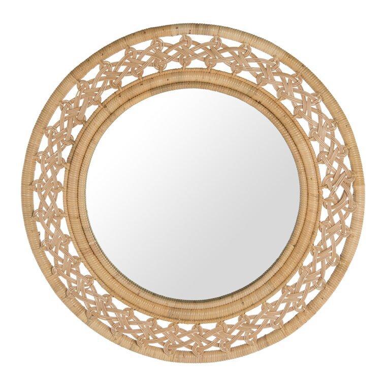 Ocean View Tulley Rattan Braided Mirror #Mirrors #Coastal #RattanMirrors #BeachHome #CoastalDecor #CoastalFurniture #Seaside #Tropical #Island