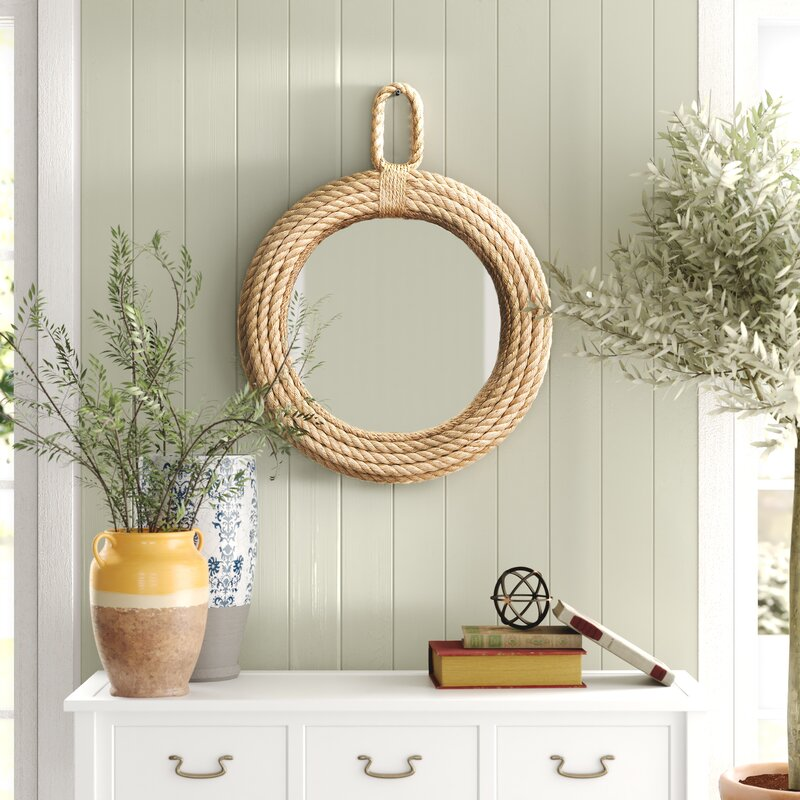 Natural Textures Conyers Accent Mirror Entryway #Coastal #CoastalDecorTips #BeachHouse #BeachHome #LakeHouse #CoastalDecor #SeasideDecor #IslandDecor #TropicalIslandDecor