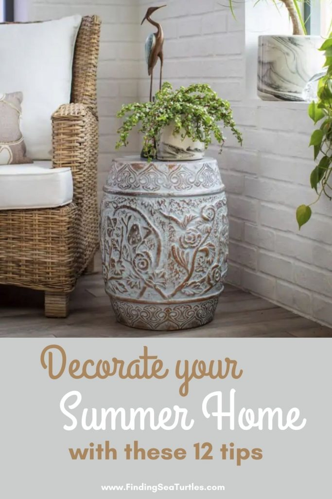 Decorate your Summer Home with these 12 tips #Coastal #CoastalDecorTips #BeachHouse #BeachHome #LakeHouse #CoastalDecor #SeasideDecor #IslandDecor #TropicalIslandDecor
