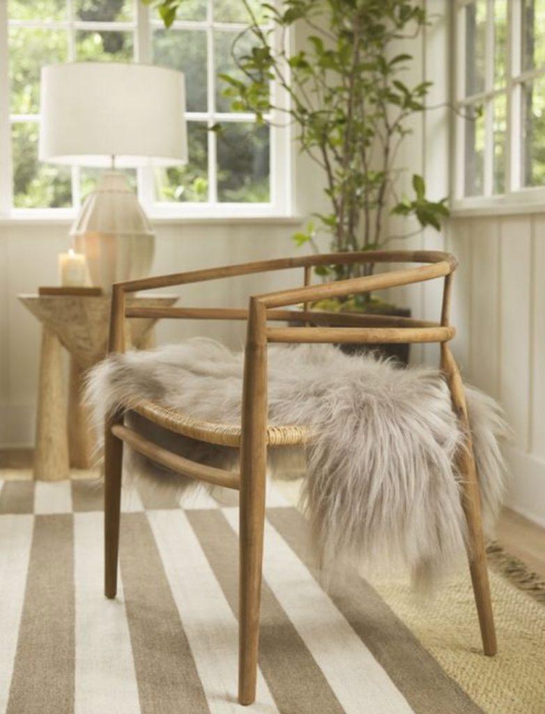Natural Wood Accents Desie Accent Chair #Coastal #CoastalDecorTips #BeachHouse #BeachHome #LakeHouse #CoastalDecor #SeasideDecor #IslandDecor #TropicalIslandDecor